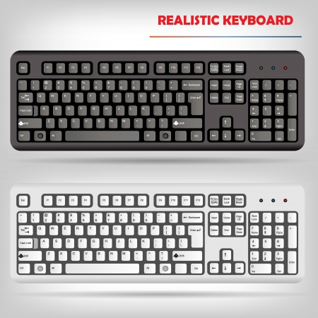 keyboard keys: Realistic computer keyboard vector