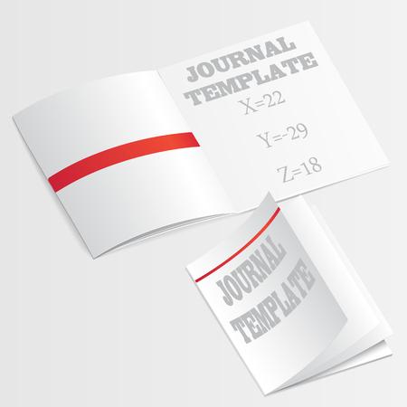 journal template vector Vector