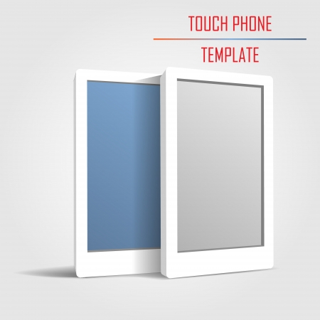 touch phone template vector Stock Vector - 24470861