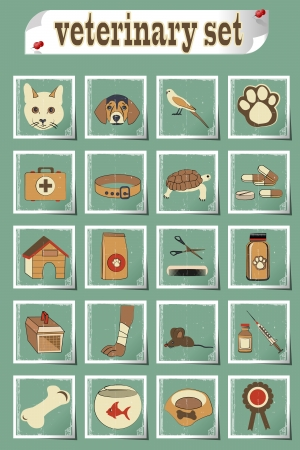 set of veterinary vector icons Stock Vector - 24470886