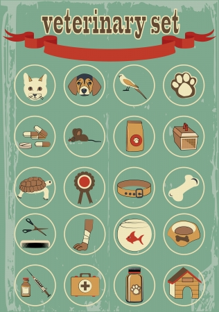 set of veterinary vector icons Stock Vector - 24470906