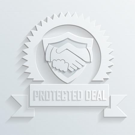 two hands: handshake icon vector