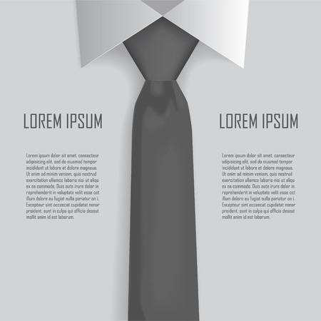 tie necktie: Shirt and tie business bacground vector Illustration