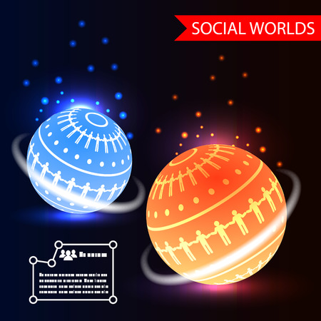 Social Worlds Abstract Background vector Vector