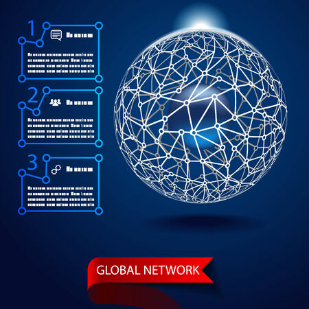 Global network background vector Vector