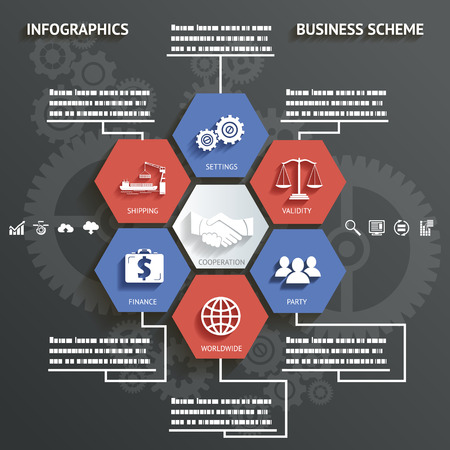 make money: Infographics Business scheme with Icons Abstract Background Vector Illustration Illustration