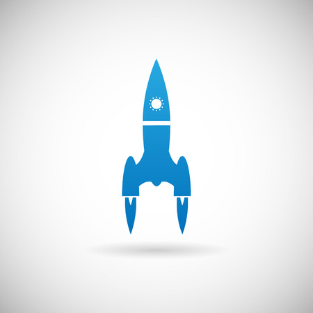stabilizer: Rocket Space Ship launch symbol Icon Design Template on Grey Background  Illustration
