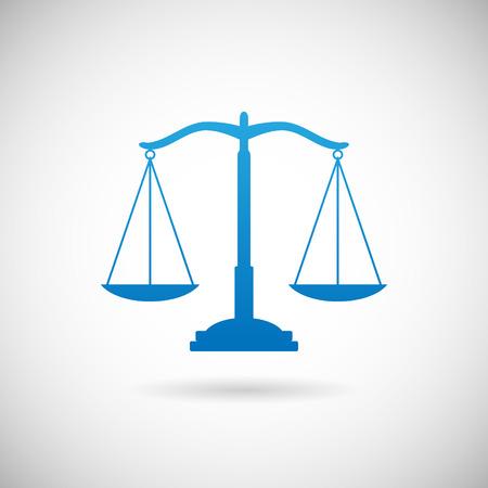 prosecutor: Diritto Simbolo giustizia scale icona di design del modello su sfondo grigio Vettoriali