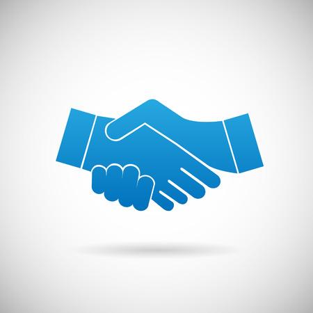 Handshake Cooperation partnership Icon Symbol Sign Vector Illustration Vector