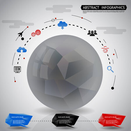Abstract Geometric ball Infographics Icons Background Vector Illustration Vector