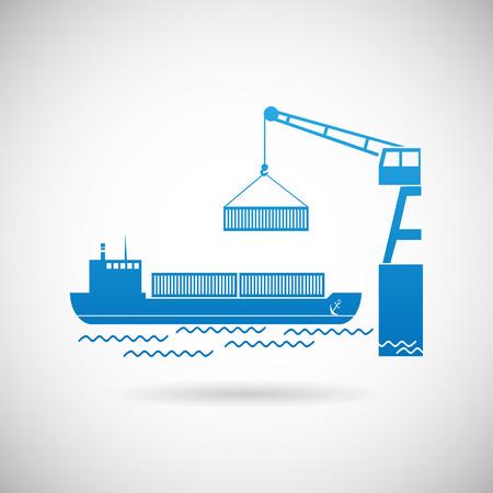 industrial ship: Shipmentl Symbol Shipping Icon design Template Vector Illustration