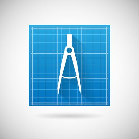 Engineering planning symbol blueprint and compass divider icon engineering planning symbol blueprint and compass divider icon design template vector illustration stock vector 27903759 malvernweather Images
