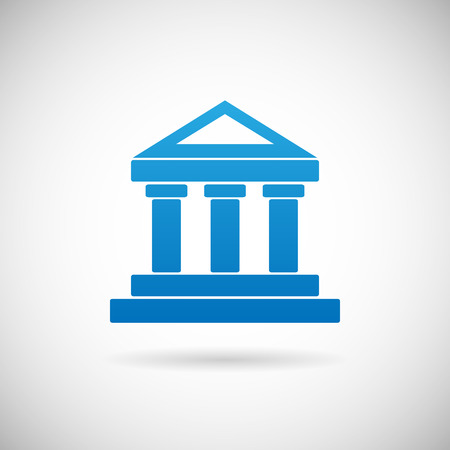 Law Court oder Bank House Symbol Justiz oder Finanzen Icon Design-Vorlage Vektor-Illustration Vektorgrafik