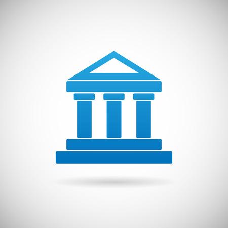 cuenta bancaria: Palacio de Justicia o del Banco Casa símbolo Justicia o Finanzas Icon Diseño de plantilla de vectores Ilustración Vectores