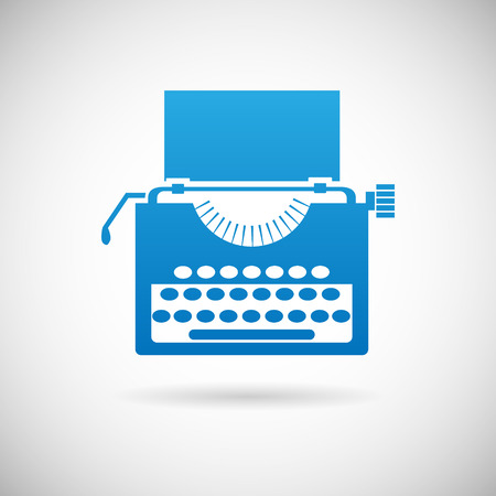 scriptwriter: Retro Vintage Creativity Symbol typewriter Icon Design Template Vector Illustration Illustration