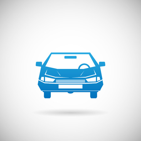 Automobile Symbol Car Silhouette icon Design Template Vector Illustration Vector