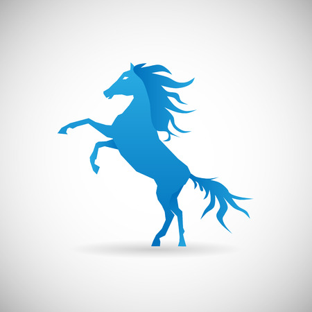 Power and Strengthl Symbol horse Icon Design Template Vector Illustration Vector