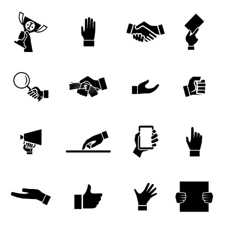 pulling money: Hands Icons and Symbol design Template  Illustration