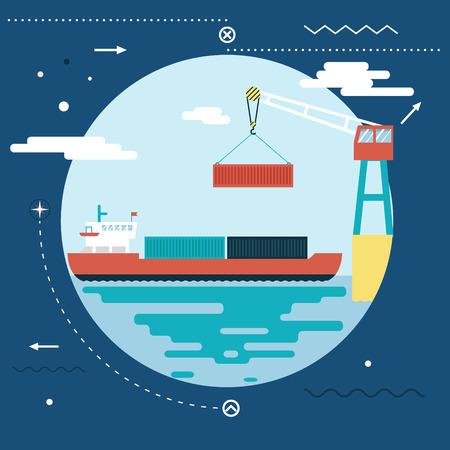 cargo vessel: Shipment Freight Symbol