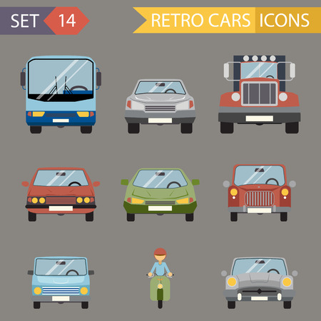 front wheel drive: Modern Flat Design Symbols