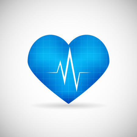 taking pulse: Healthcare and Medical Care Symbol heart Beat Rate Icon Design Template Vector Illustration