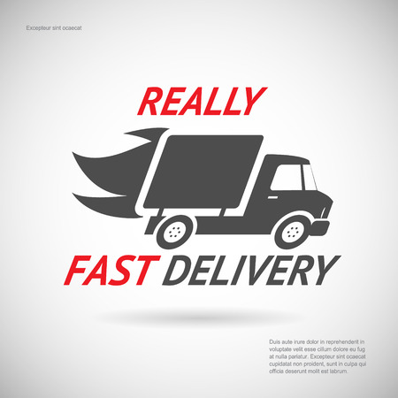 Fast Delivery Symbol Shipping Truck Silhouette Icon Design Template Vector Illustration Banco de Imagens - 30172215