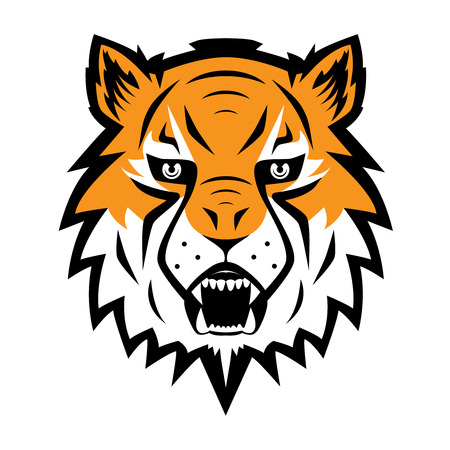 Tiger icon Team Symbol Sport Mascot Icon Isolated Vector Illustration
