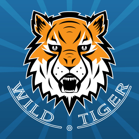 Tiger Logo Team Symbol Sport Mascot Icon Isolated Vector Illustration