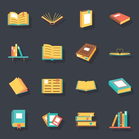 Flat isometrisch boek pictogrammen symbolen geïsoleerde set sjabloon voor web vector illustratie Stockfoto - 36499334