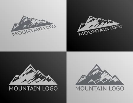 Mountain Logo Symbol Icon Isolated Vector Illustration  イラスト・ベクター素材
