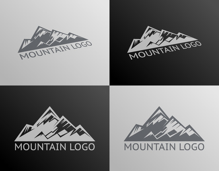 Mountain Logo Symbol Icon Isolated Vector Illustration Çizim
