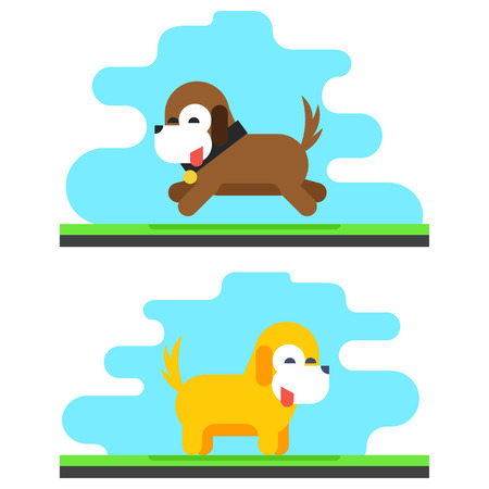 drool: Funny Dog Sky Background Concept Design Vector Illustration Illustration