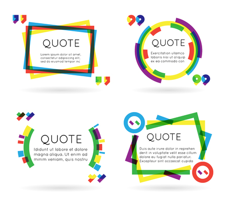information  isolated: Colorful quote template information text blog business mobile isolated white background vector illustration Illustration
