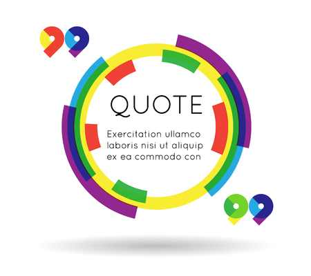 information  isolated: Quote template colorful information text blog business mobile isolated white background vector illustration Illustration