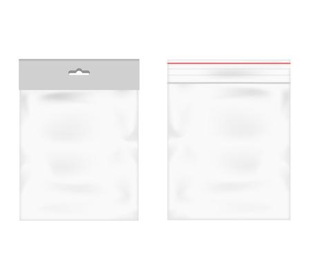 Plastic zak icoon transparante werkelijkheid achtergrond illustratie