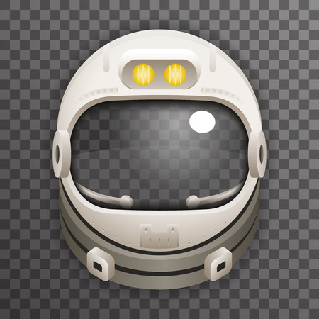 Realistyczny Kask Cosmonaut Astronaut Spaceman Tantamareska plakat Szczelnie Szklany Szablon Ikona Szablonu Mock Up Design Ilustracja wektorowa