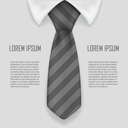 Realistic shirt and tie business bacground design vector illustration Illustration
