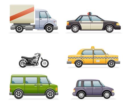 Retro Car Icons Realistische Design Vector Illustration