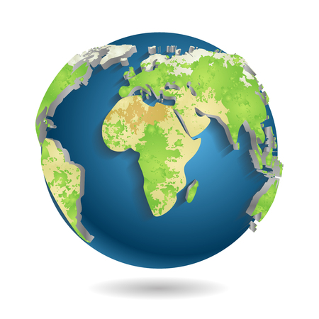 realist: 3d World Map Background Isolated Vector illustration Illustration