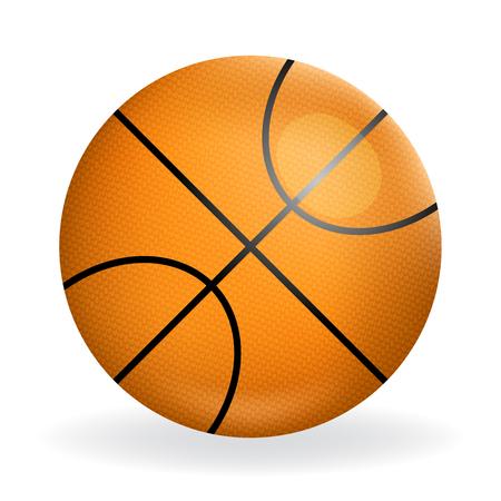 symbol sport: Realistische Basketball Ball Symbol Sport Symbol isoliert Design Vektor-Illustration Illustration