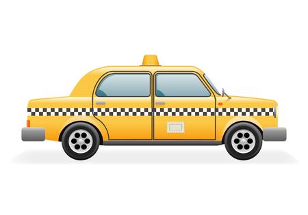 road traffic: Retro Taxi Car Icon Isolated Realistic Design Vector Illustration