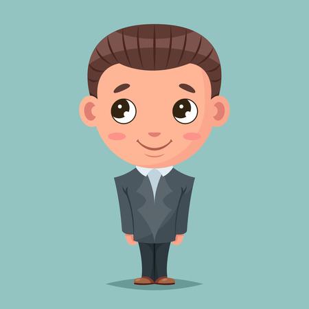 Business mascot good boy ready job cartoon design vector illustration Illustration