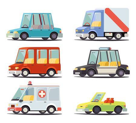 vehicle icon: Transport Car Vehicle Icon Design Stylish Retro Cartoon Design Vector Illustration Illustration