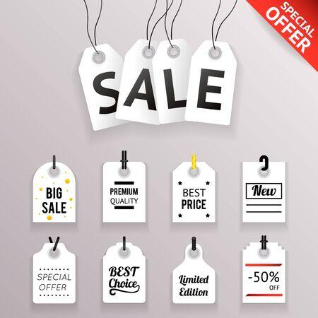 sale icons: Price Sale Text Tag Symbol Labels Icons Set Transperent Background Vector Illustration