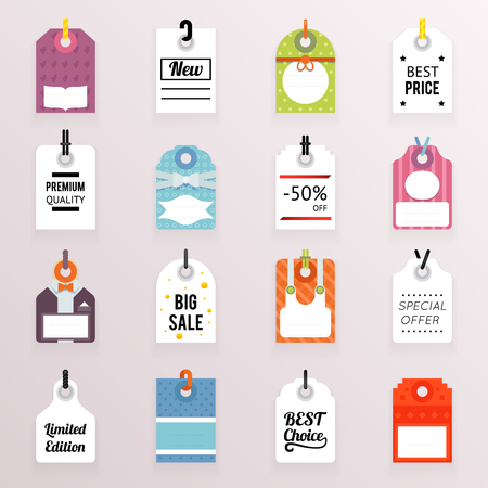 sale icons: Sale Price Labels Icons Set   Text Tag Symbol Template Vector Illustration