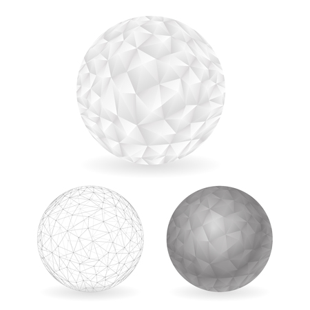 Geometric Design low Polygonal Sphere Template Abstract Vector Illustration