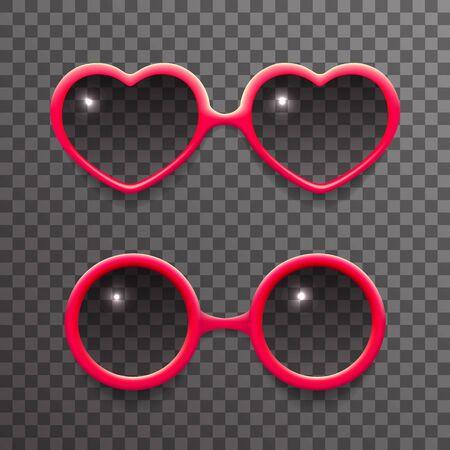 fashion glasses: Woman sun glasses stylish isolated 3d realistic fashion mockup transparent background design vector illustration