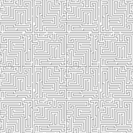 Intricacy labyrinth maze seamless pattern background design template vector illustration