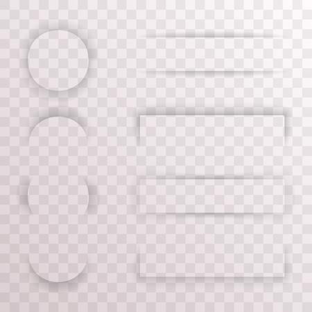 banner effect: Paper Shadow Template Effect Set Transparent Background Web Banner Mockup Design Vector Illustration Illustration