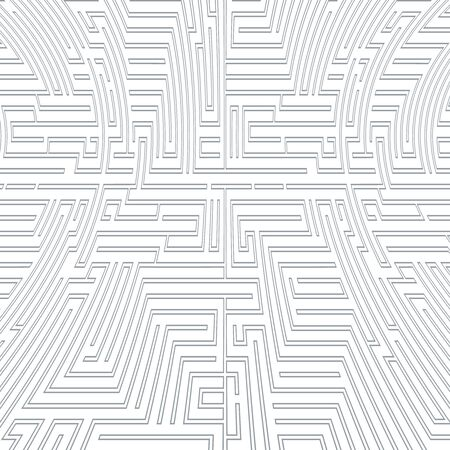 Intricacy labyrinth maze seamless pattern background design template vector illustration